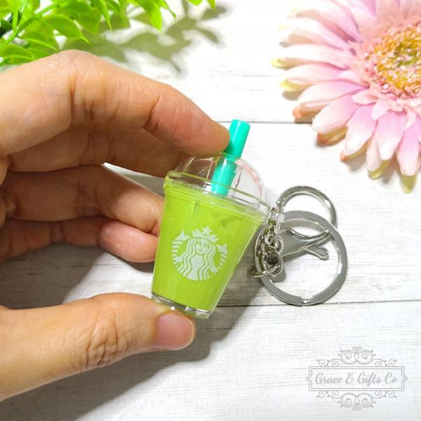 Miniature Starbucks keychain Iced Matcha Latte 3