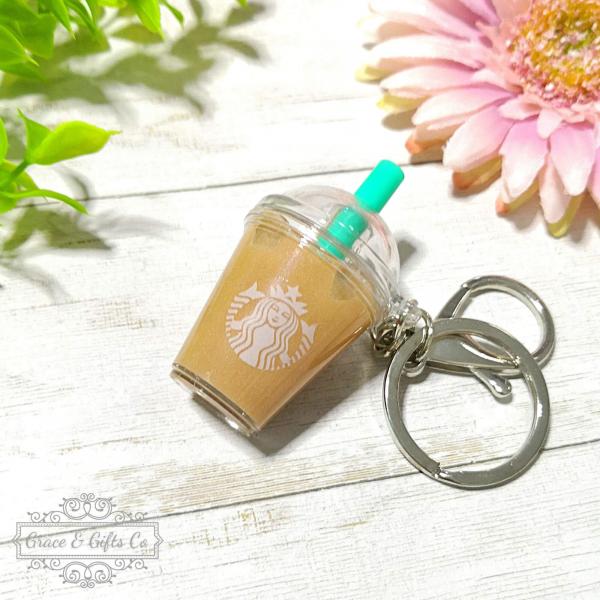 Miniature Starbucks keychain Iced latte 3