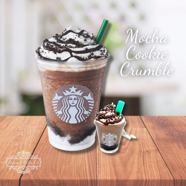Starbucks keychain Mocha Cookie Crumble gift for coffee lover
