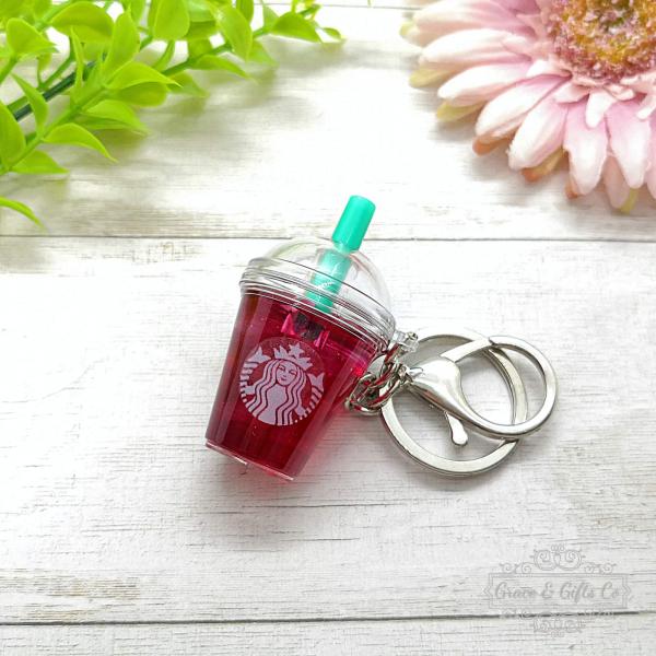 mini Starbucks keychain Passion iced tea starbucks gift cup