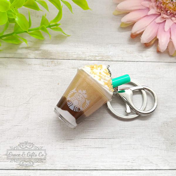 Miniature Starbucks Gift keychain Smore Frappuccino 1