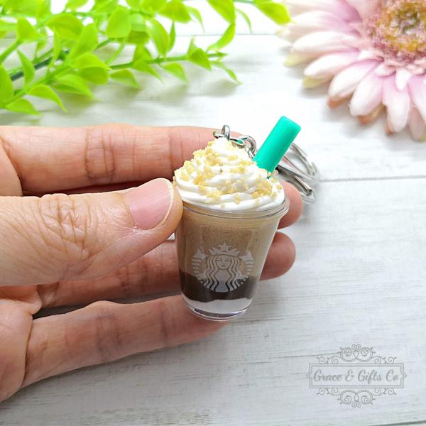 Miniature Starbucks gift keychain Smore Frappuccino 2