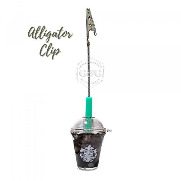 mini starbucks Ice Americano Alligator clip