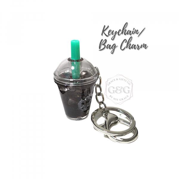mini starbucks keychainIce Americano Keychain bag charm