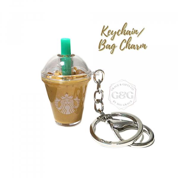 mini starbucks keychain Ice Latte Keychain bag charm