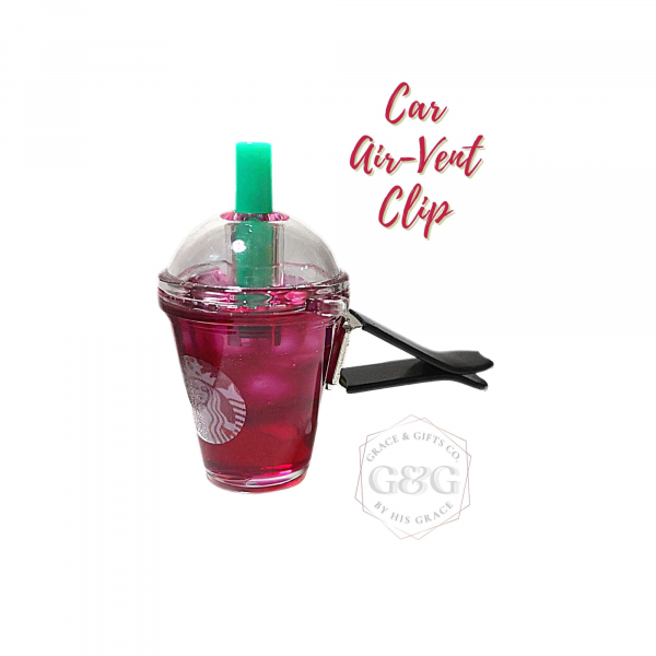mini starbucks gift Ice Passion Tea car vent clip christmas gift for wife