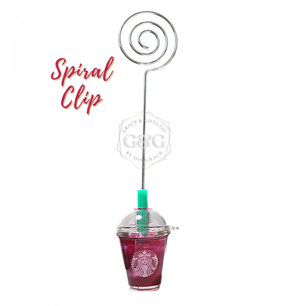 mini starbucks cup Ice Passion spiral clip gift for mom sister
