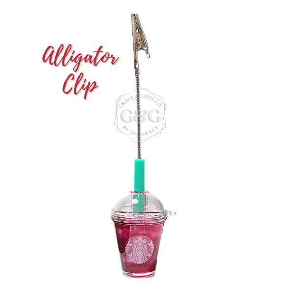 miniature starbucks cup Ice passion tea clip christmas gift for coworker colleague boss
