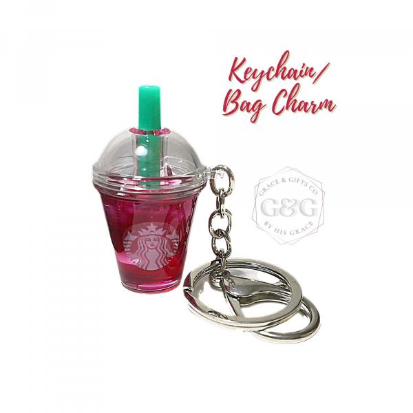 mini starbucks keychain Ice passion tea christmas gift for women